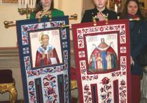 У Львові виготовили і посвятили коругви для козацької церкви на Хортиці