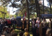 Українці Канади заклали камінь під забудову Меморіялу жертвам Голодомору