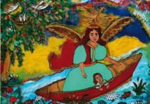 «З янголом у човні»: виставка  живопису на склі Анастасії Рак