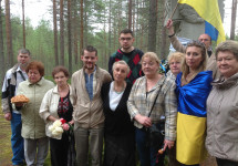 Українці Росії вшанували річницю страчених земляків у Карелії