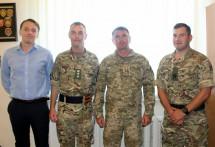 Британські офіцери вивчають бойовий досвід частин, виведених на ротацію