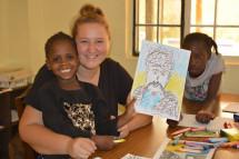 Кенійські сироти малювали Шевченка