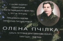 Меморіальну дошку Олені Пчілці полтавці- благодійники подарували гадяцькій громаді