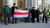 Львів'яни провели акцію на підтримку білоруських патріотів