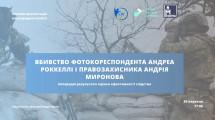 Правозахисники створили міжнародну комісію по справі вбивства фотокореспондента Андреа Роккеллі і правозахисника Андрія Миронова