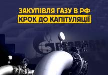 Закупівля газу в РФ – крок до капітуляції