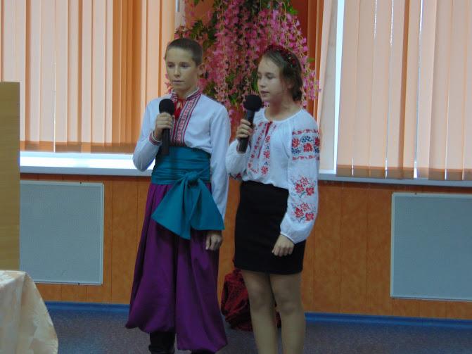 юні козачата вітають учасників зібрання