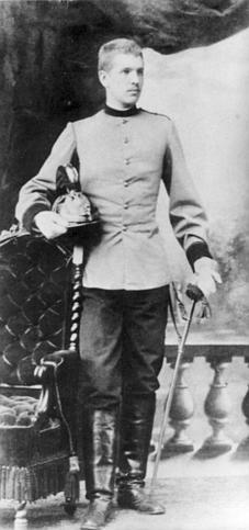 Роман Шептицький у формі улана. 1883 рік