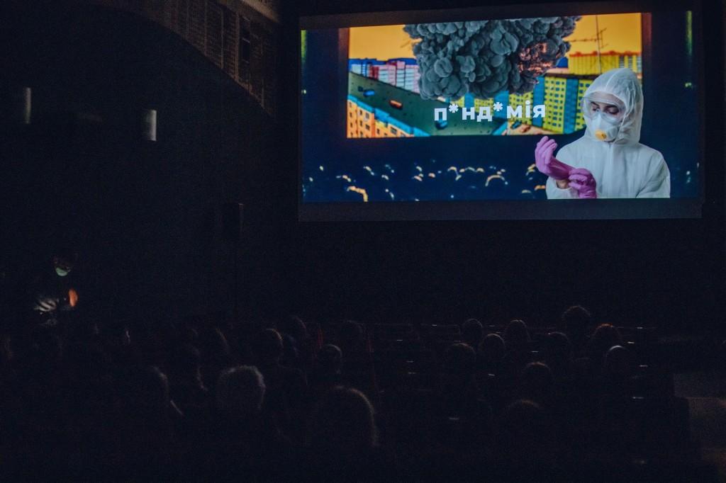 показ у кінотеатрі Львова