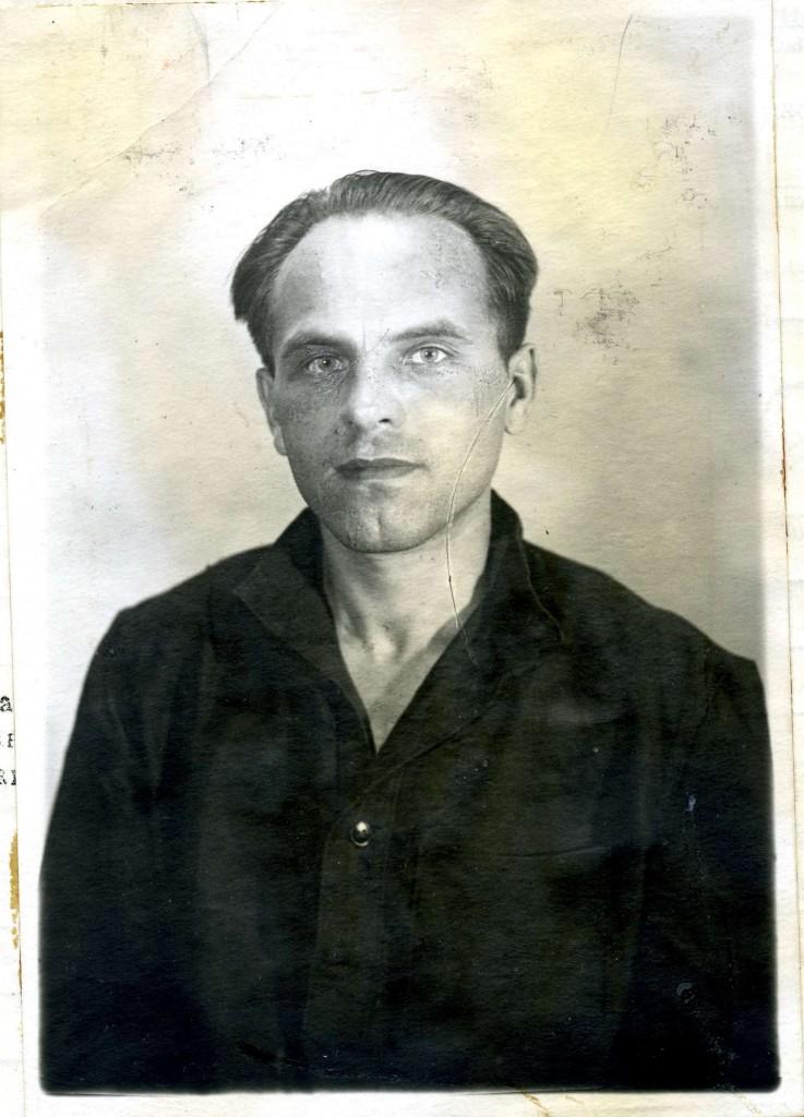 Василь Галаса. Світлина з анкети арештованого. 1953 рік
