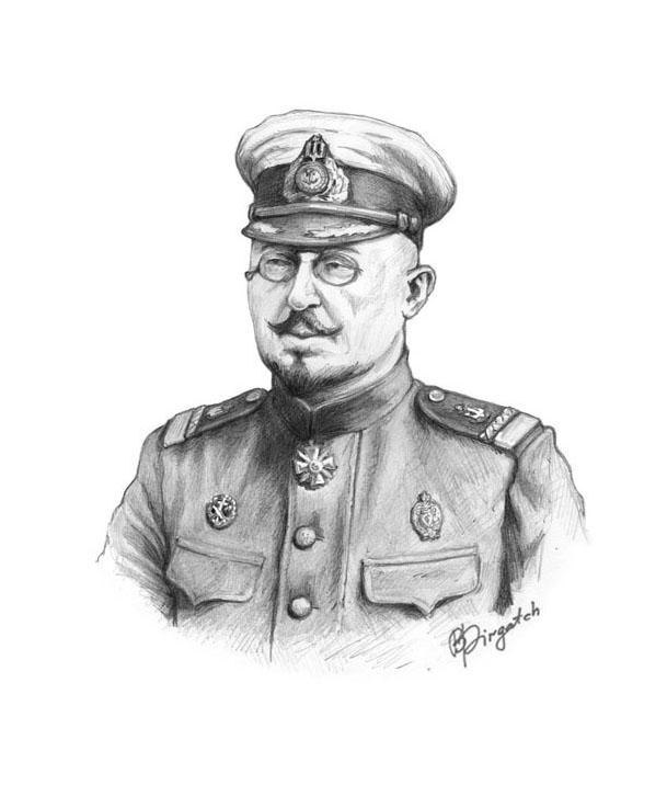 3. Контр-адмірал Михайло Остроградський, малюнок Богдана Піргача (2014)