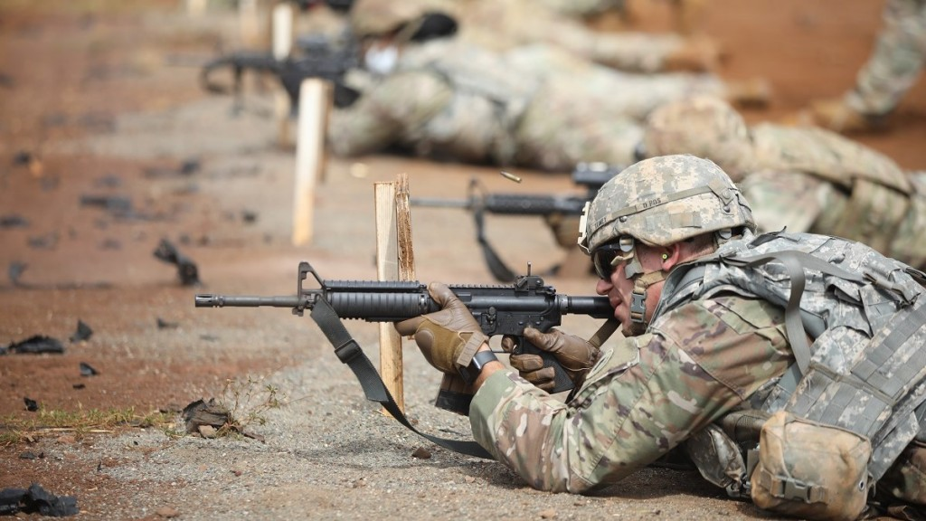 Army BWC, USARPAC NCO at the range