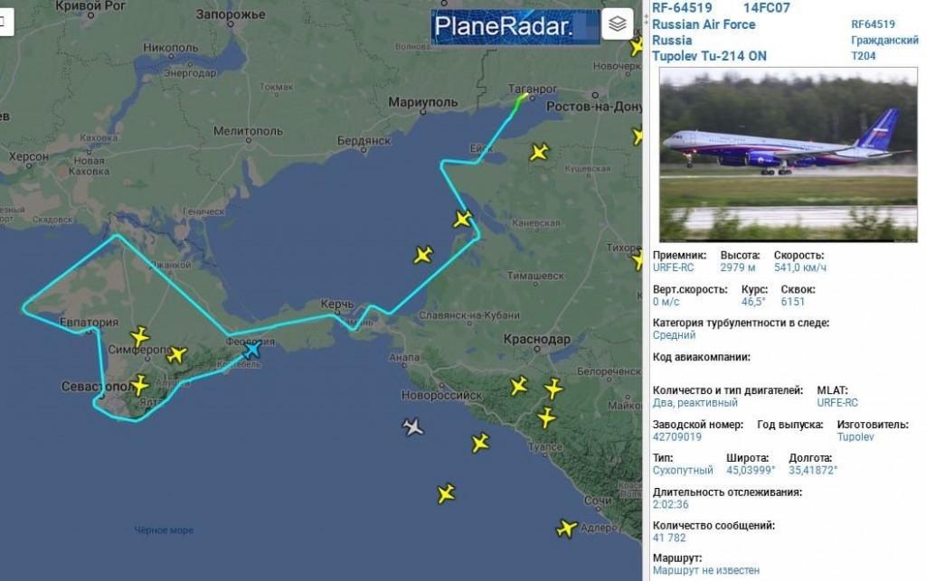 Marshrut-polotu-litaka-Tu-214ON-5-kvitnya-2021-roku